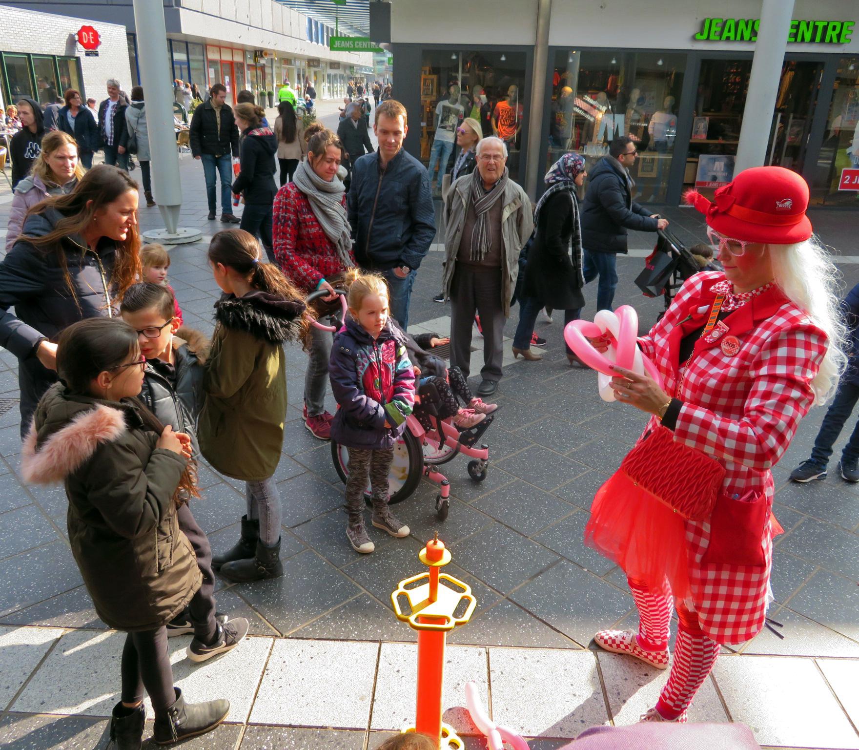 Ballonnen vouwen Clowntje Loeffie